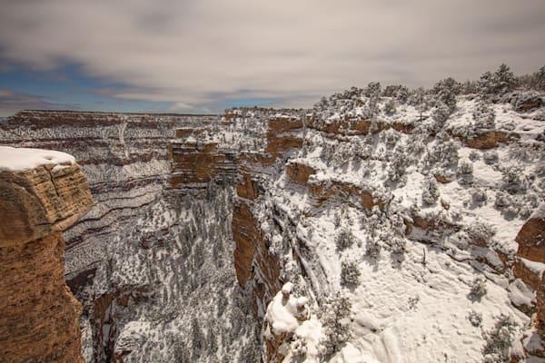 Grand Canyon, snow, night, Arizona, stars, photograph, photo, 18