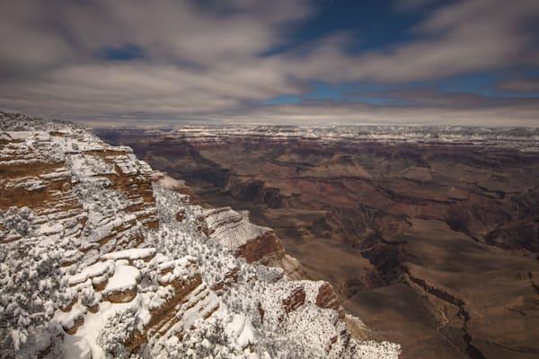 Grand Canyon, snow, night, Arizona, stars, photograph, photo, 16