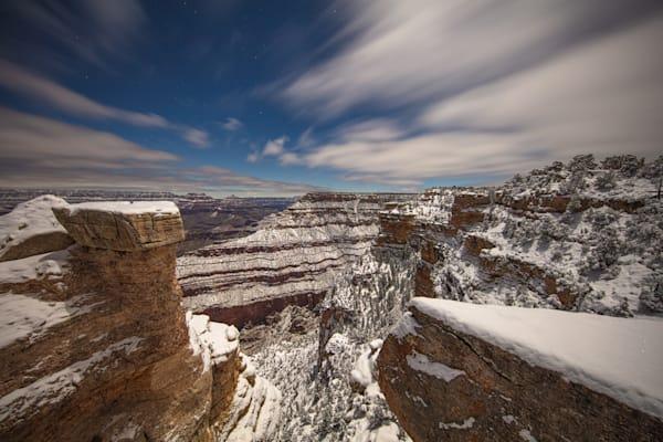 Grand Canyon, snow, night, Arizona, stars, photograph, photo, 17