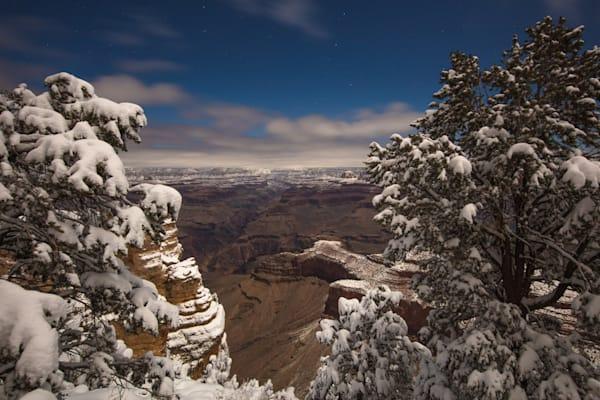 Grand Canyon, snow, night, Arizona, stars, photograph, photo, 15