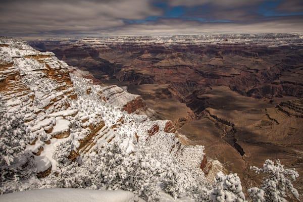 Grand Canyon, snow, night, Arizona, stars, photograph, photo, 13