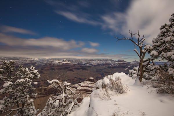 Grand Canyon, snow, night, Arizona, stars, photograph, photo, 14