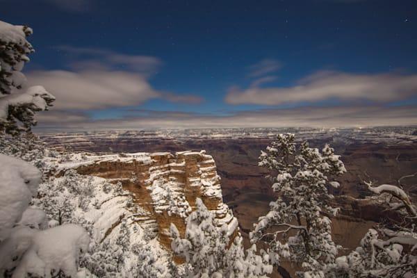 Grand Canyon, snow, night, Arizona, stars, photograph, photo, 12