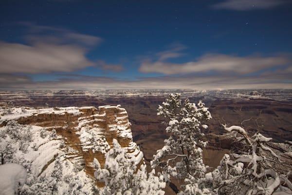 Grand Canyon, snow, night, Arizona, stars, photograph, photo, 11