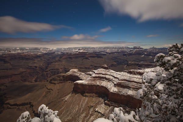 Grand Canyon, snow, night, Arizona, stars, photograph, photo, 10