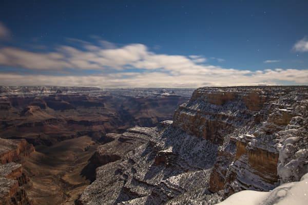 Grand Canyon, snow, night, Arizona, stars, photograph, photo, 3, three