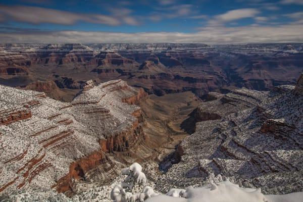 Grand Canyon, snow, night, Arizona, stars, photograph, photo, 2
