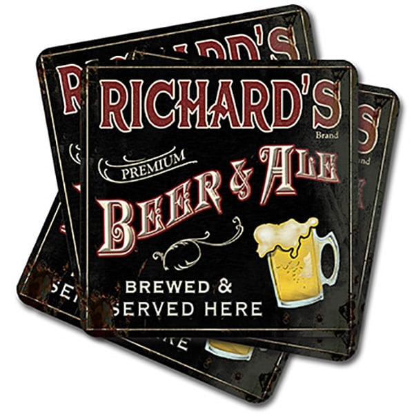 Personalizable Beer & Ale Coaster Set
