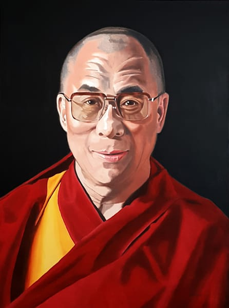 His Holiness, The 14th Dalai Lama   Original Oil Painting Art | Dave Martsolf Fine Arts