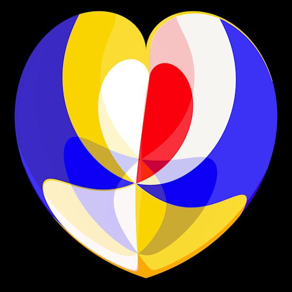 Red White Yellow Blue Pinwheel pol coord  flexhyperbolic 3 werner