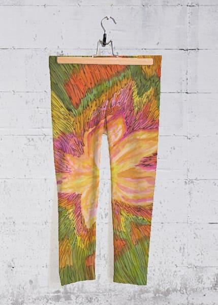 Voice Of A Third Spirit Yoga Capri Pants | Lillith
