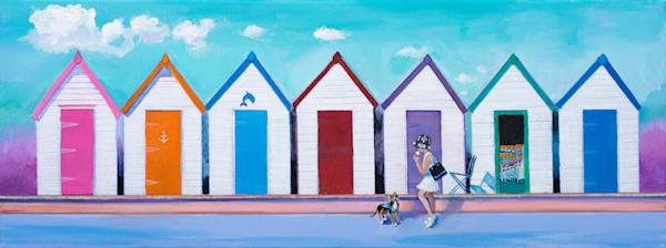 Beach Huts Original Artwork.