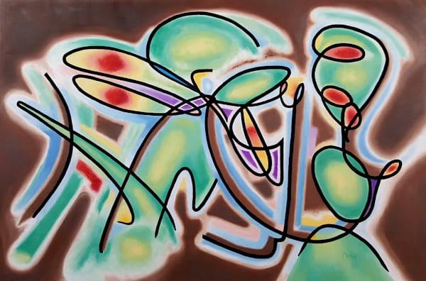 Dance 22 : Homage to Frank Stella - Original Oil Painting