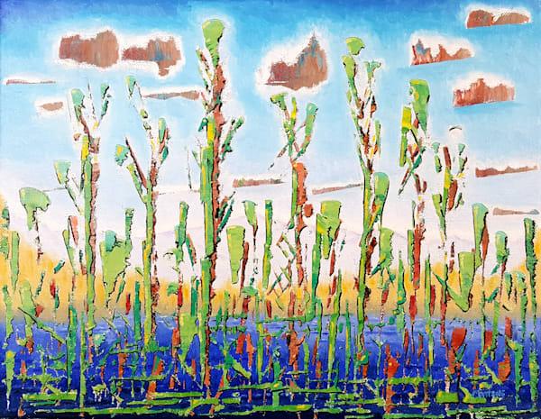 Cattails   Original Oil Painting Art | Dave Martsolf Fine Arts