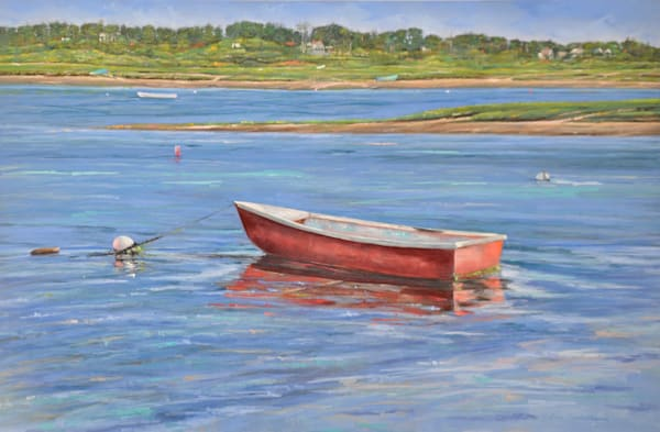 Red Dinghy Photography Art   The Colors of Chatham
