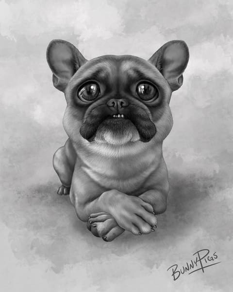 Bruce The Frenchie Art | BunnyPigs