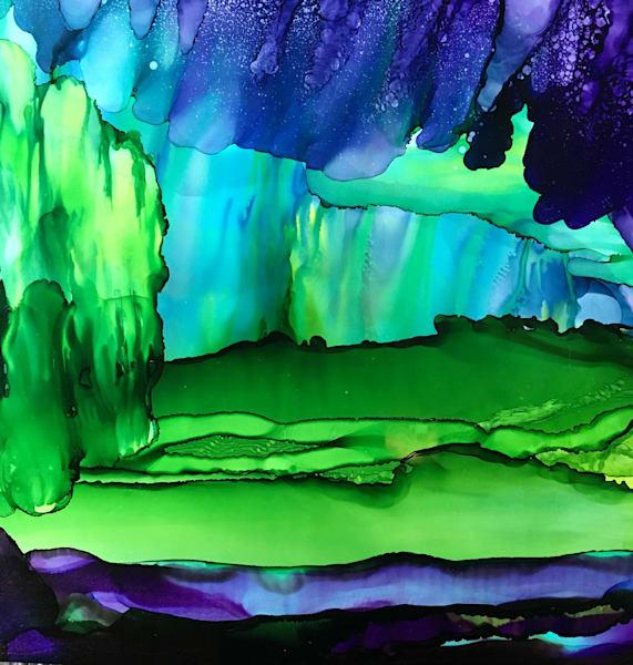 Built Toward Violet, Original Art | Sandy Smith Gerding Artwork