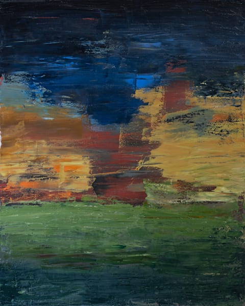 Sunset-Abstract Landscape Painting