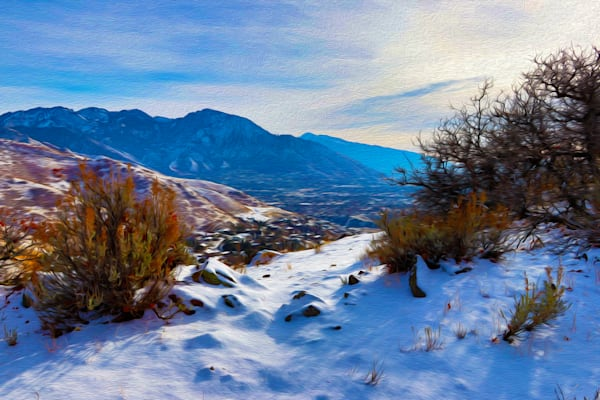 Winter In The Wasatch Art | Oz Fine Art Studio