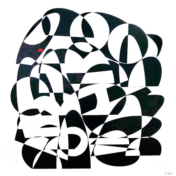 """The Red Dot"" Art   abstractartbyjohnfatse"