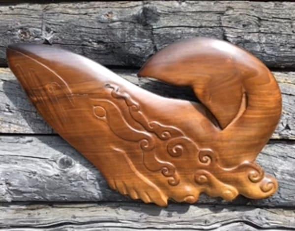 Whales, wall carvings, Alaskan Art