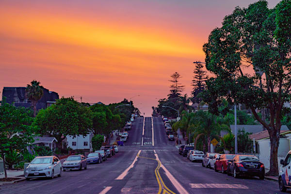 Burning Sky Sunset In University Heights Fine Art Print Art | McClean Photography