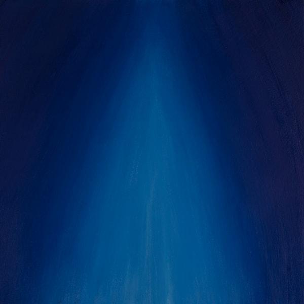 descending blue light
