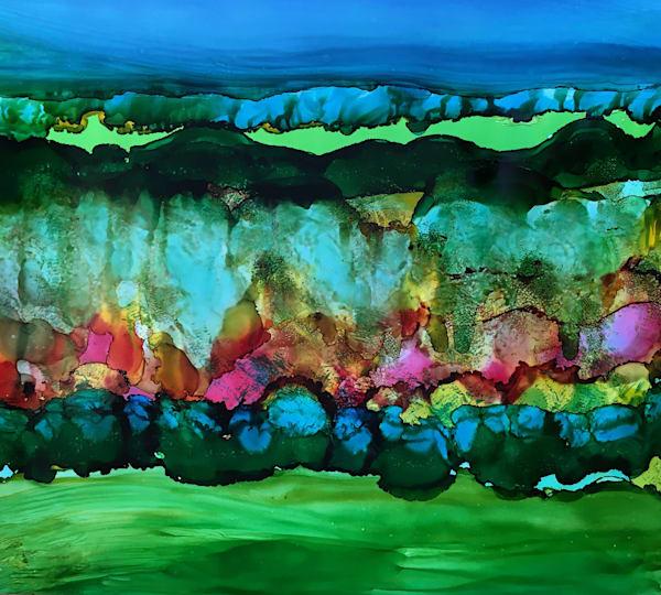 Fuschia Dissipation, Original Art   Sandy Smith Gerding Artwork