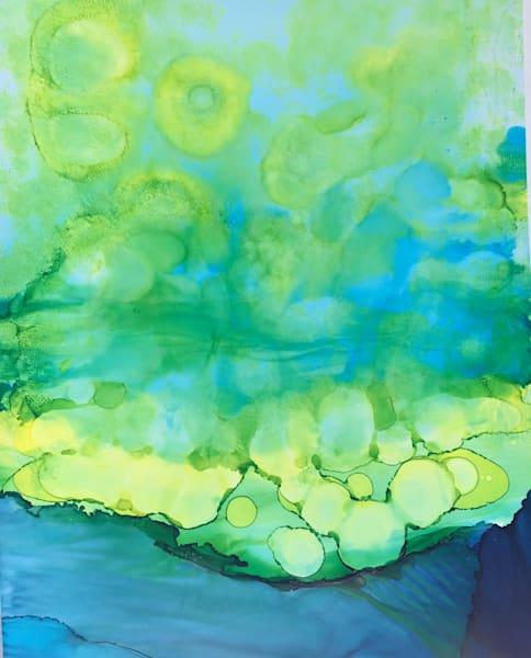 Greens Over Water, Original Art   Sandy Smith Gerding Artwork