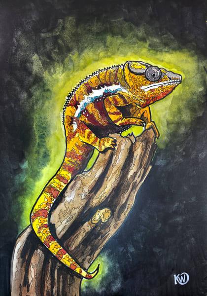 Panther Chameleon 04 Art   Water+Ink Studios