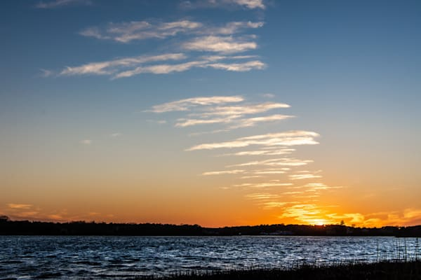 Sunset Contrail Photography Art | The Colors of Chatham