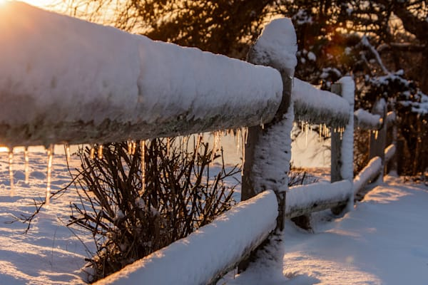 Frosty Fence Photography Art | The Colors of Chatham