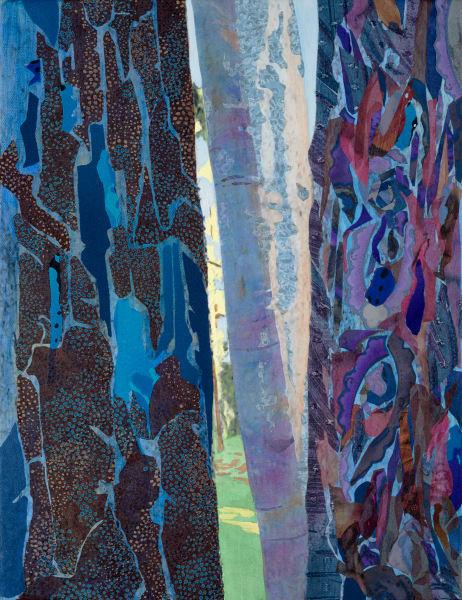 Sacred Forest 2  Blue Art | Meryl Cohen Art