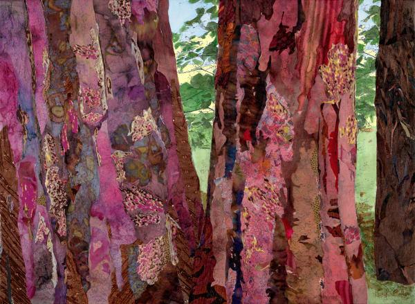 Sacred Forest 2  Red Art | Meryl Cohen Art