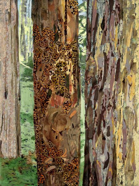 Sacred Forest 2  Yellow Art | Meryl Cohen Art