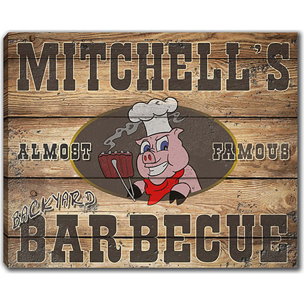 Personalizable Backyard Barbecue  Canvas Sign Or Poster (3 Sizes) | Photo 2 Canvas Direct