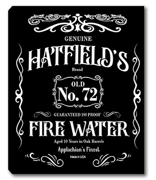 Personalizable Fire Water Whiskey Sign Canvas Print | Photo 2 Canvas Direct