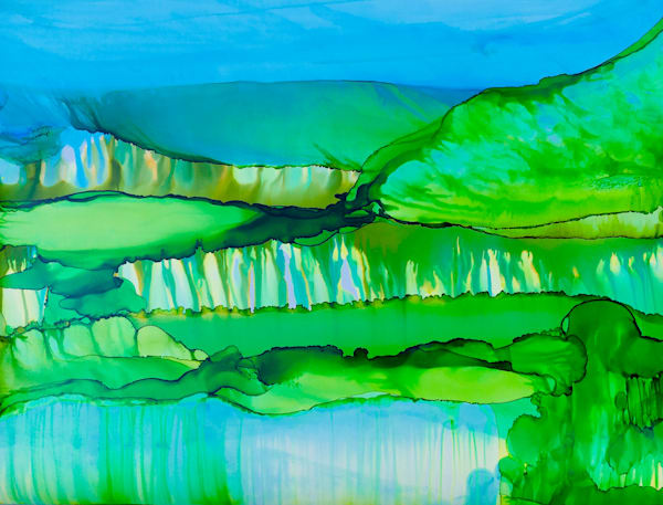 The Verdant Present, Original Art | Sandy Smith Gerding Artwork