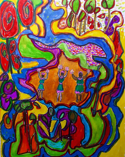 Chorus Girls In Abstractlandia Art | New Orleans Art Center