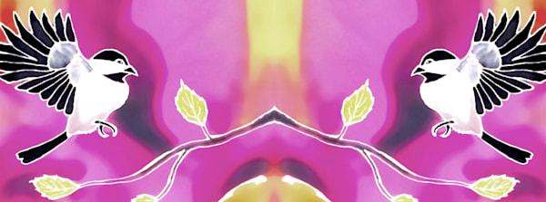 Spring Chickadee Mug Art | Amanda Faith Alaska Paintings / Estuary Arts, LLC