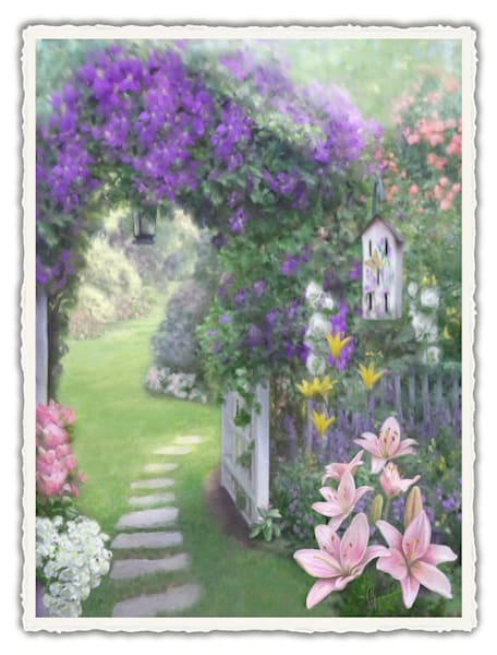 Beverly's Welcome.  Frameable Note Cards by the artist, Mary Ahern