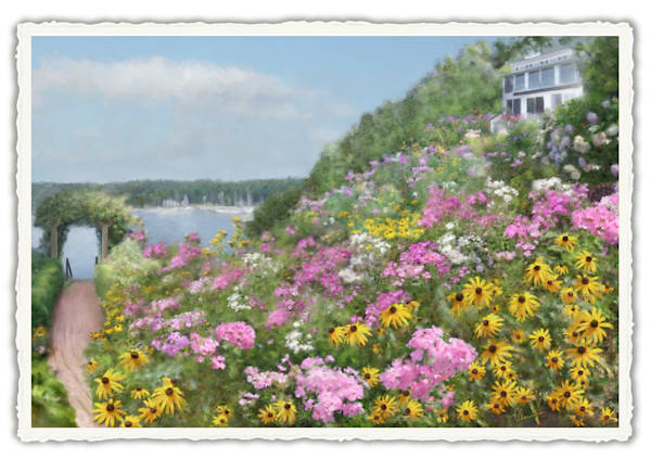 Judy's View.  Frameable Note Cards by the artist, Mary Ahern