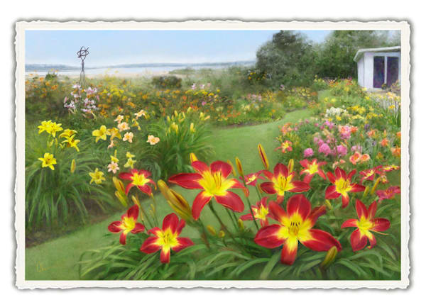 Petersen's Garden.  Frameable Note Cards by the artist, Mary Ahern