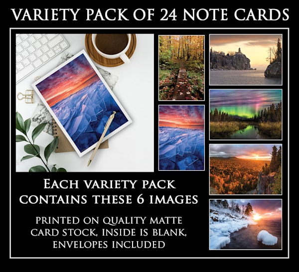 Note cards by photographer Ryan Tischer in pack of 24