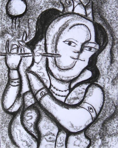 Krishna The Flute Player Art   janakastagnaro
