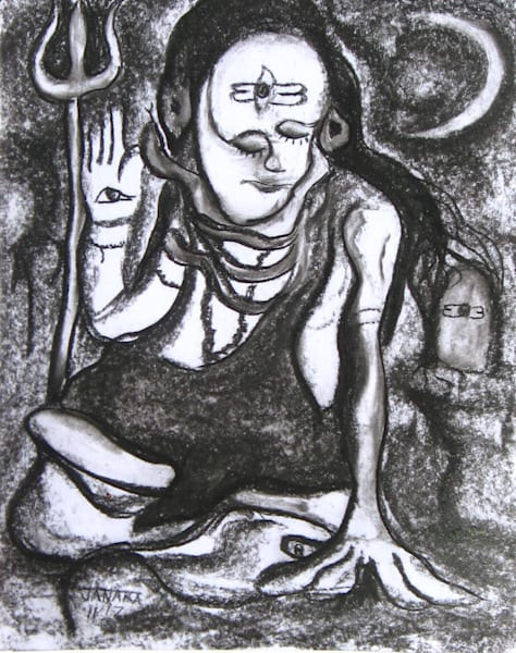 Shiva  God Of The Yogis Art   janakastagnaro