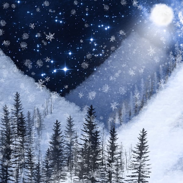 Winter Moonscape Art | Karen Hutton Fine Art