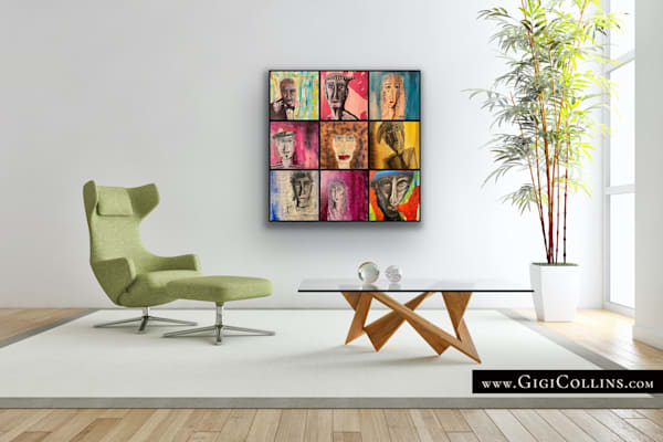 The Characters Gallery Wrap Limited Edition  Art | Gigi Collins Art