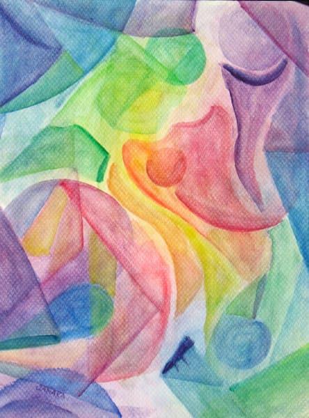 Abstract Veil Painting Art   janakastagnaro
