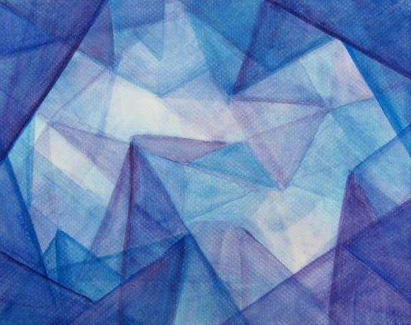 Straight Edged Veil Painting Art   janakastagnaro